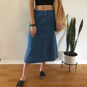 Velvet Heart Jean Button long skirt - Small